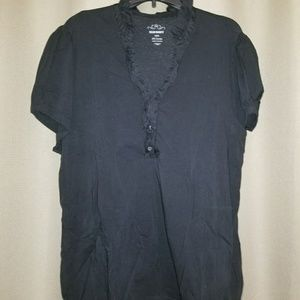 Old navy XXL button up ruffle Henley tee